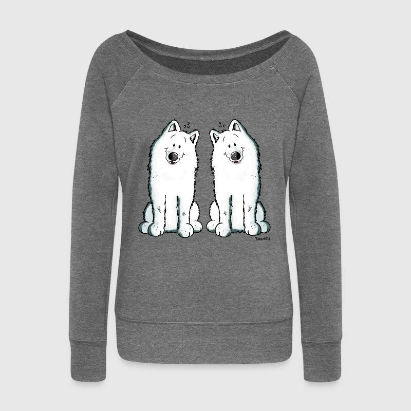 Samoyed Team - Samoyède Sweat-shirts - Pull Femme col bateau de Bella