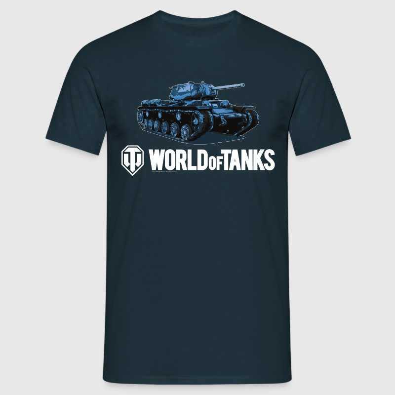 World of Tanks Blue Tank Men T-Shirt - Herre-T-shirt