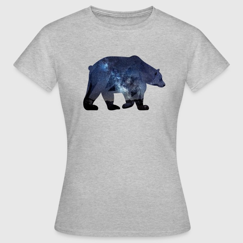 bear ours etoile nuit galaxie Tee shirts - T-shirt Femme