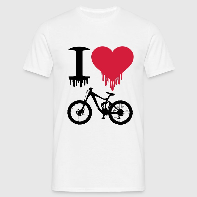 I love Downhill Bike Freeride VTT Enduro Downhill - T-shirt Homme