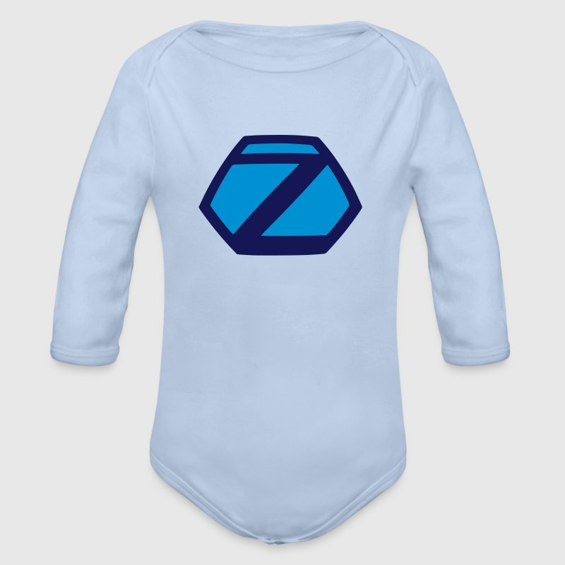 Comic Hero Superheld Superman Z lustige Baby Bodys - Baby Bio-Langarm-Body