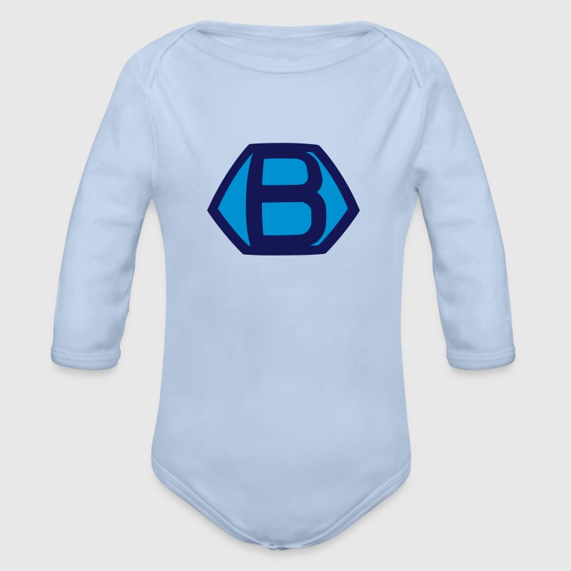 Comic Hero Superheld Superman B lustige Baby Bodys - Baby Bio-Langarm-Body