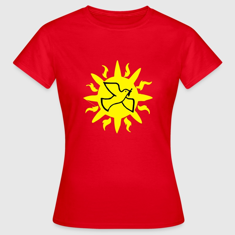 Peace dove with Sun - Women's T-Shirt