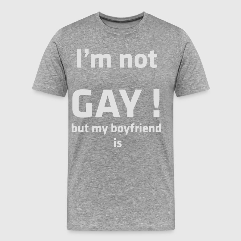 I m not gay transparent Tee shirts - T-shirt Premium Homme