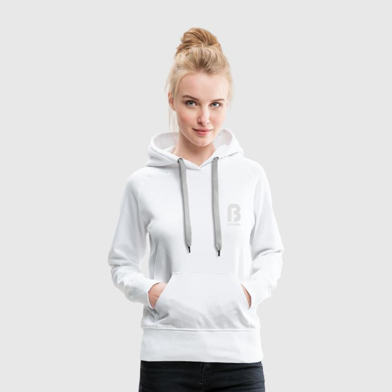 Bedfunk Warm and cuddly hoodie for women in white - Women's Premium Hoodie