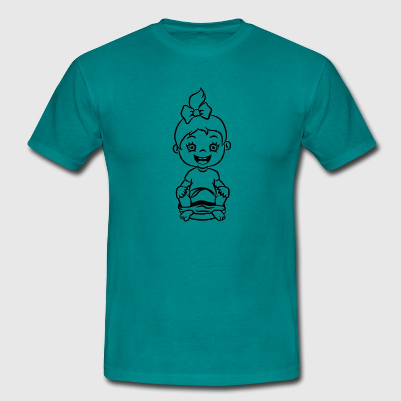 toilettes wc petite fille joie assis Tee shirts - T-shirt Homme