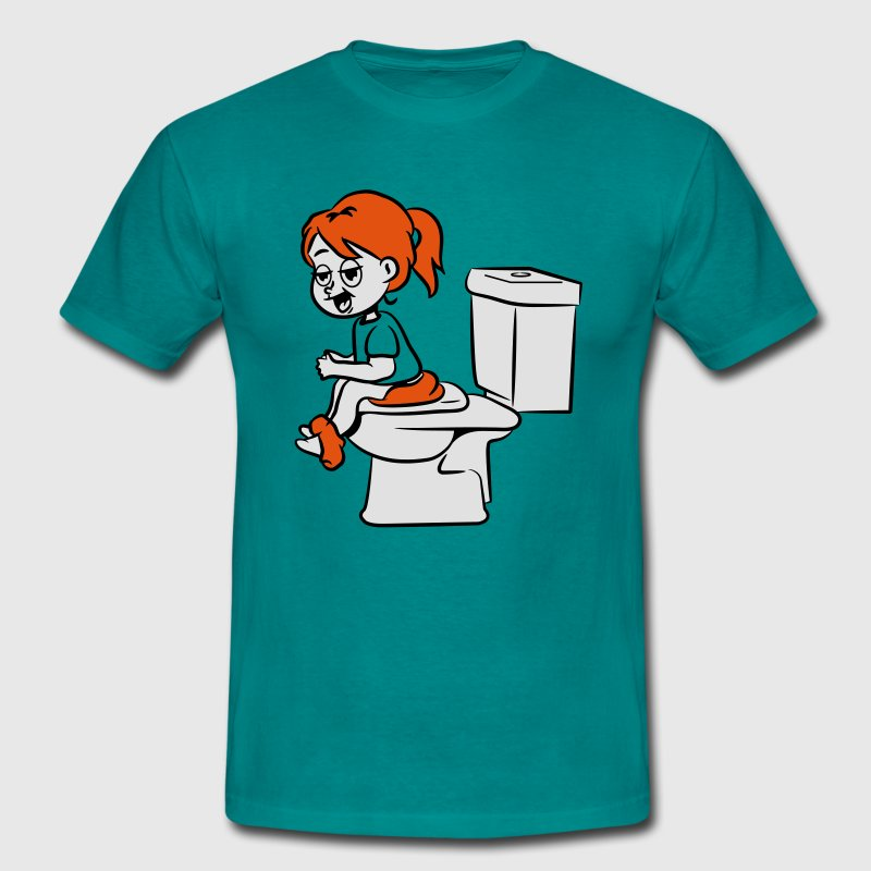toilettes wc Assis petite fille Tee shirts - T-shirt Homme