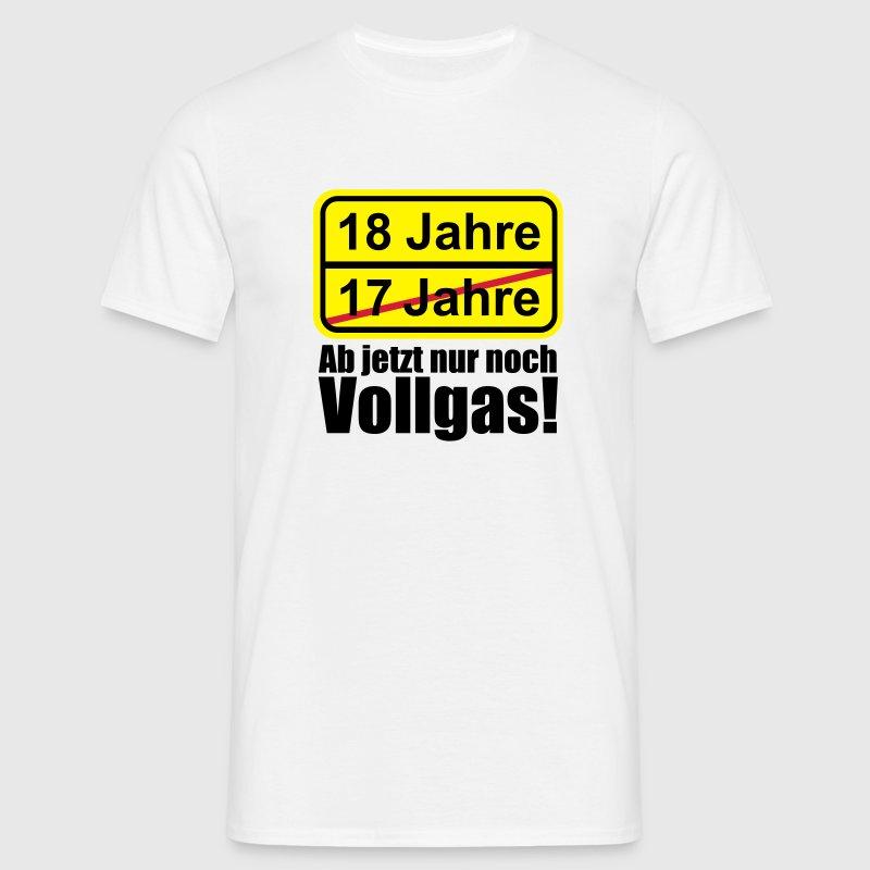 18 jahre lustiges schild 18 geburtstag t shirt spreadshirt. Black Bedroom Furniture Sets. Home Design Ideas