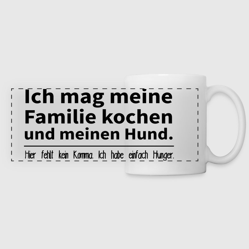 ich mag meine familie kochen und meinen hund tasse spreadshirt. Black Bedroom Furniture Sets. Home Design Ideas