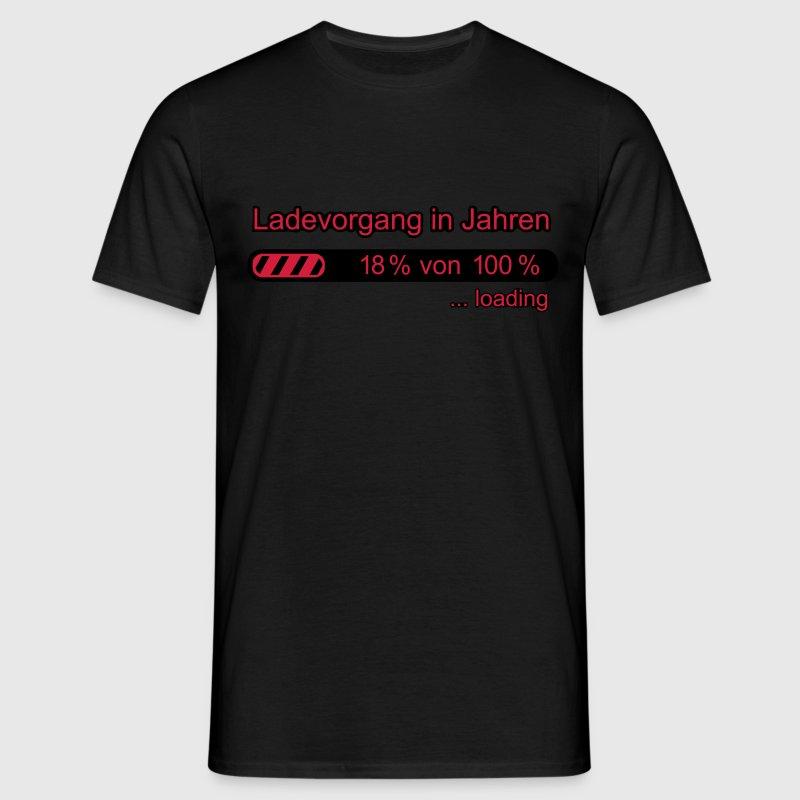 18 geburtstag ladebalken witzig spruch t shirt spreadshirt. Black Bedroom Furniture Sets. Home Design Ideas