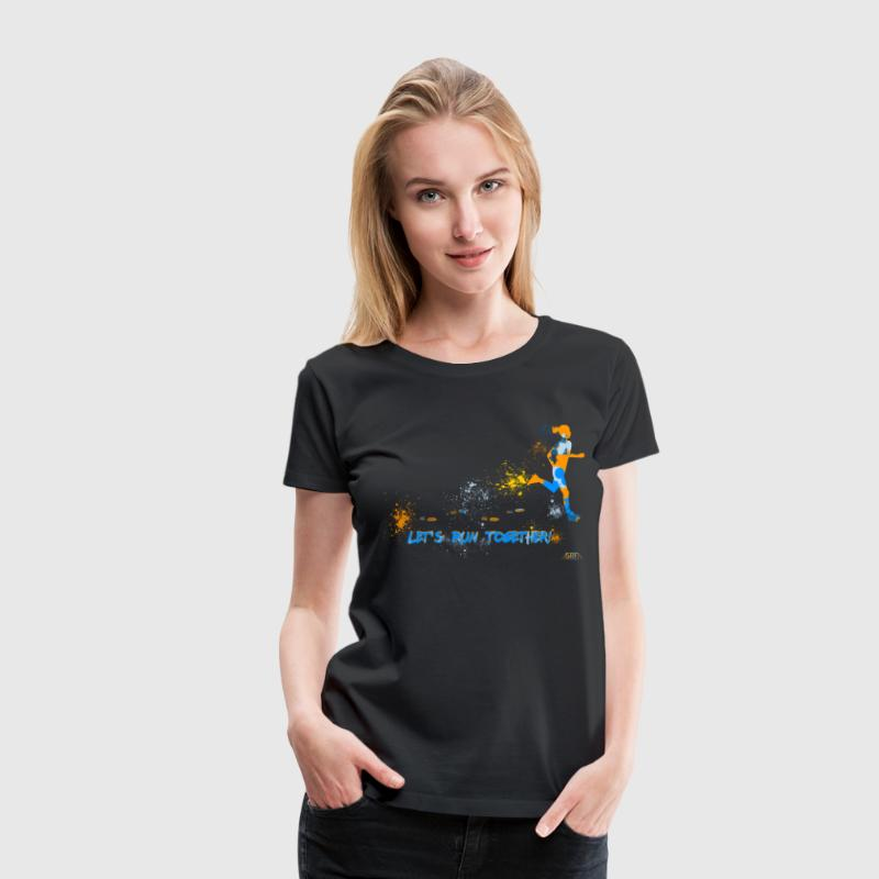 Let's run together! T-Shirts - Women's Premium T-Shirt