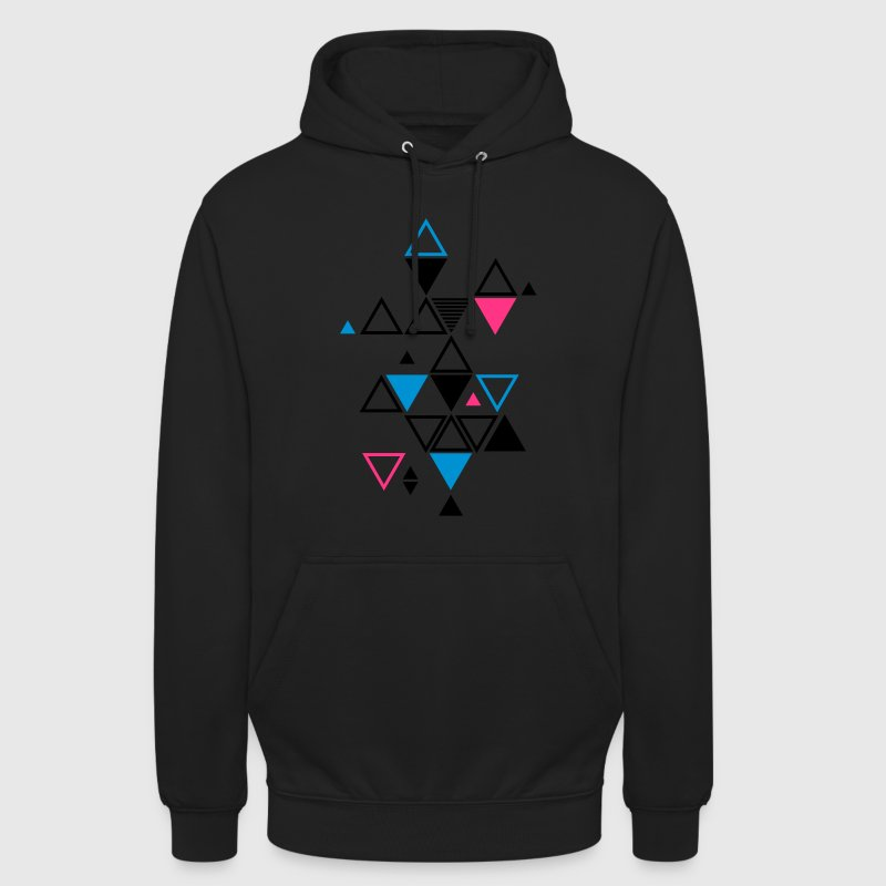 motif graphique de triangles Sweat-shirts - Sweat-shirt à capuche unisexe