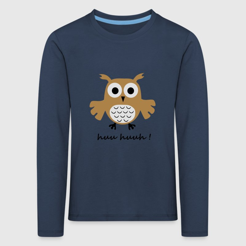 s e eulen uhu funny owl comic kinder baby motive langarmshirt spreadshirt. Black Bedroom Furniture Sets. Home Design Ideas