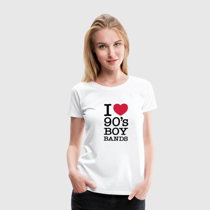 I Love 90's Boy Bands T-Shirts - Frauen Premium T-Shirt