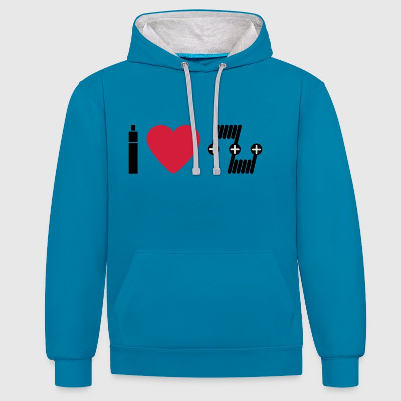 I love RDA deck.svg Hoodies & Sweatshirts - Contrast Colour Hoodie