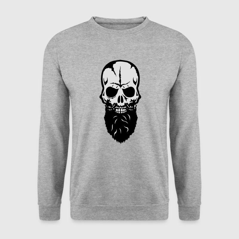 tete de mort skull barbe beard 25 Sweat-shirts - Sweat-shirt Homme