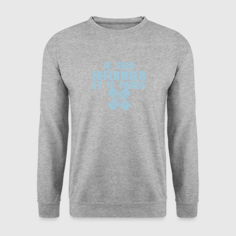 infirmier et panse pansement citation Sweat-shirts - Sweat-shirt Homme