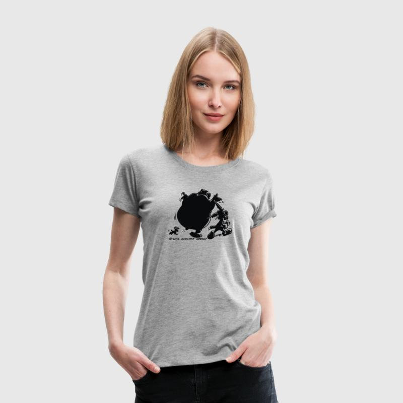 Asterix & Obelix with Idefix shadow Women's T-Shir - Women's Premium T-Shirt