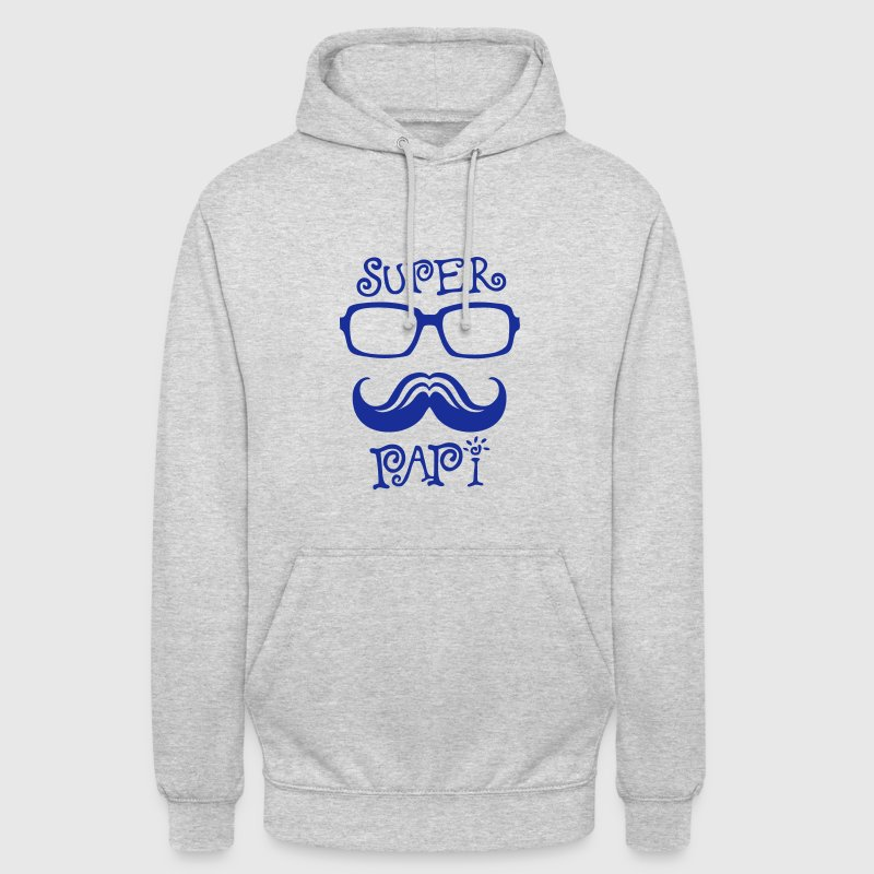 papi super lunette moustache logo 8 Sweat-shirts - Sweat-shirt à capuche unisexe