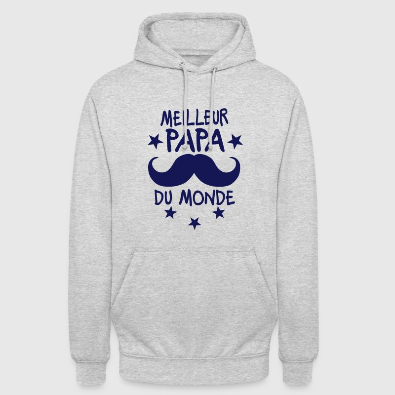 meilleur papa monde moustache etoile Sweat-shirts - Sweat-shirt à capuche unisexe