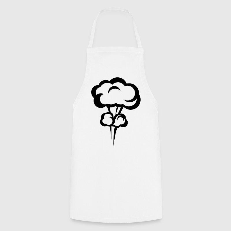 Dessins Un Tablier : Tablier explosion champignon nucleaire dessin spreadshirt