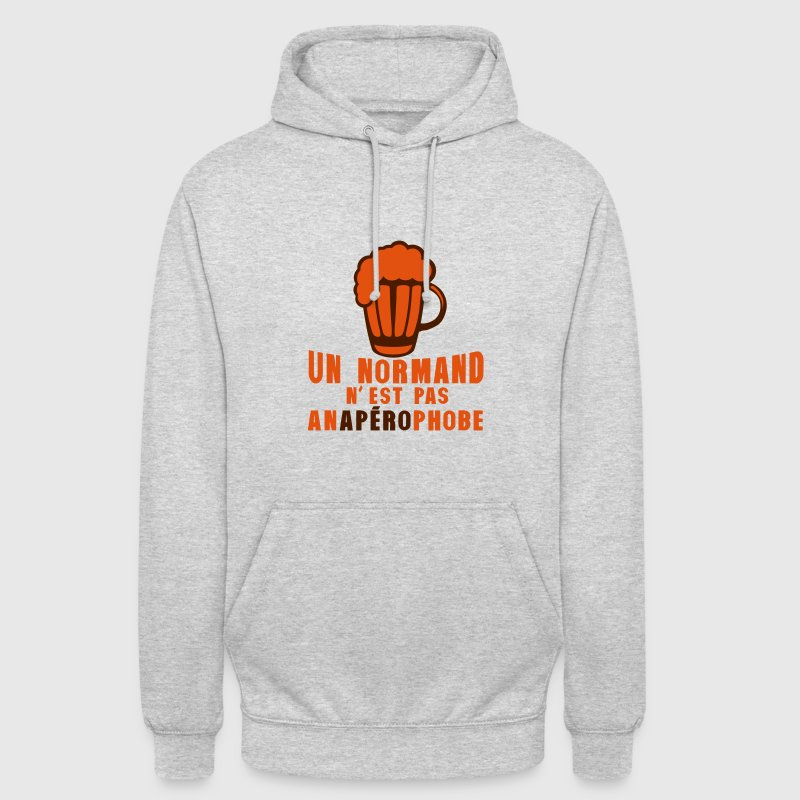 normand pas anaperophobe peur apero Sweat-shirts - Sweat-shirt à capuche unisexe