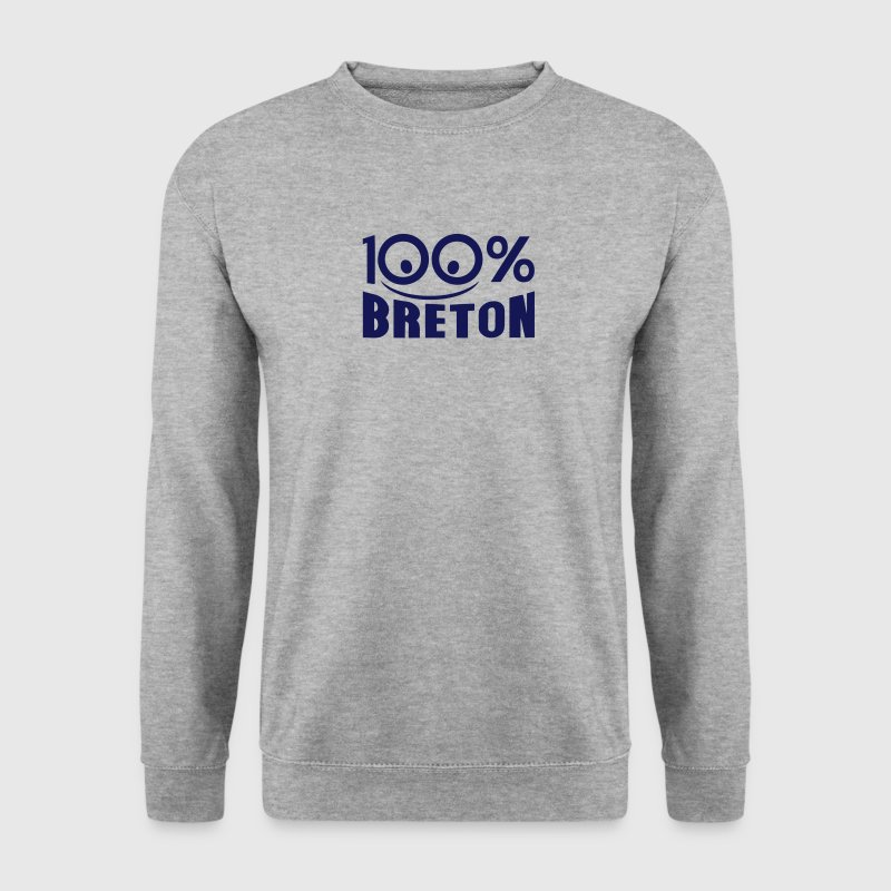 breton 100 pour cent logo sourire Sweat-shirts - Sweat-shirt Homme