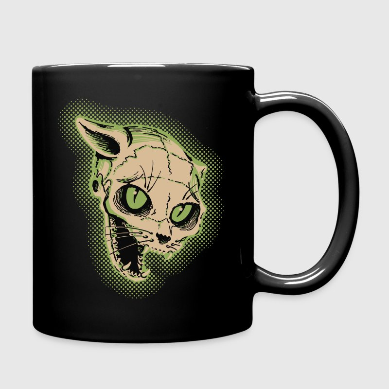 Vintage Cat Skull Illustration Mugs & Drinkware - Full Colour Mug
