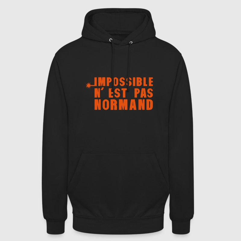 normand impossible nest pas meche Sweat-shirts - Sweat-shirt à capuche unisexe