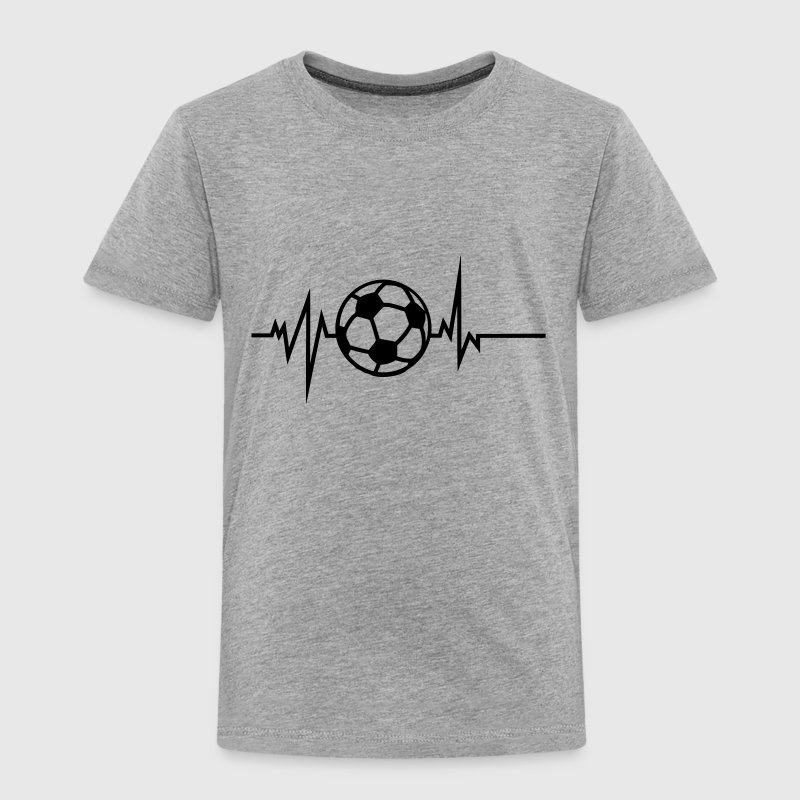 foot soccer trace courbe coeur battement Tee shirts - T-shirt Premium Enfant