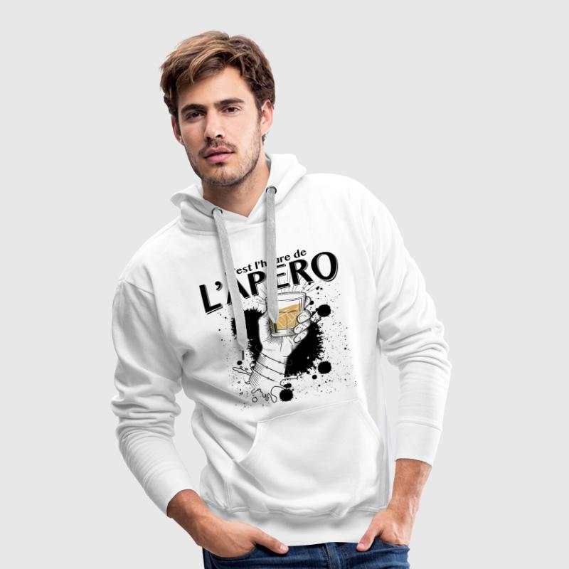 apero time Sweat-shirts - Sweat-shirt à capuche Premium pour hommes