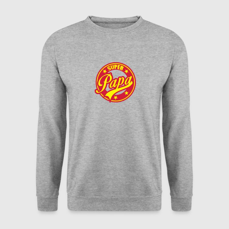 super papa vintage cercle rond logo 1801 Sweat-shirts - Sweat-shirt Homme