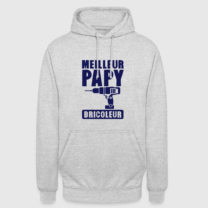 papy meilleur bricoleur perceuse 1401 Sweat-shirts - Sweat-shirt à capuche unisexe