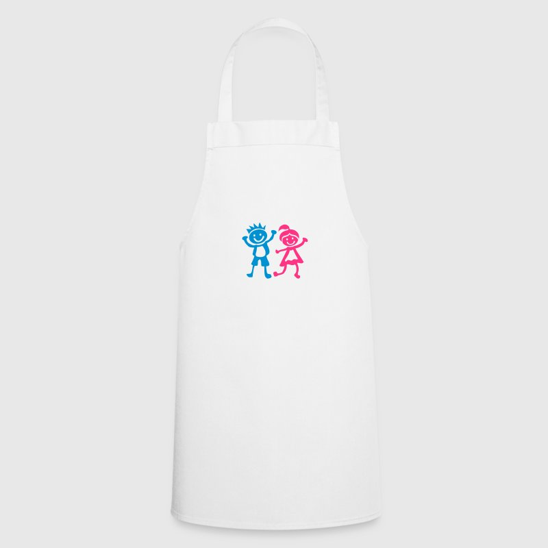 Boy girl children drawing 1401  Aprons - Cooking Apron