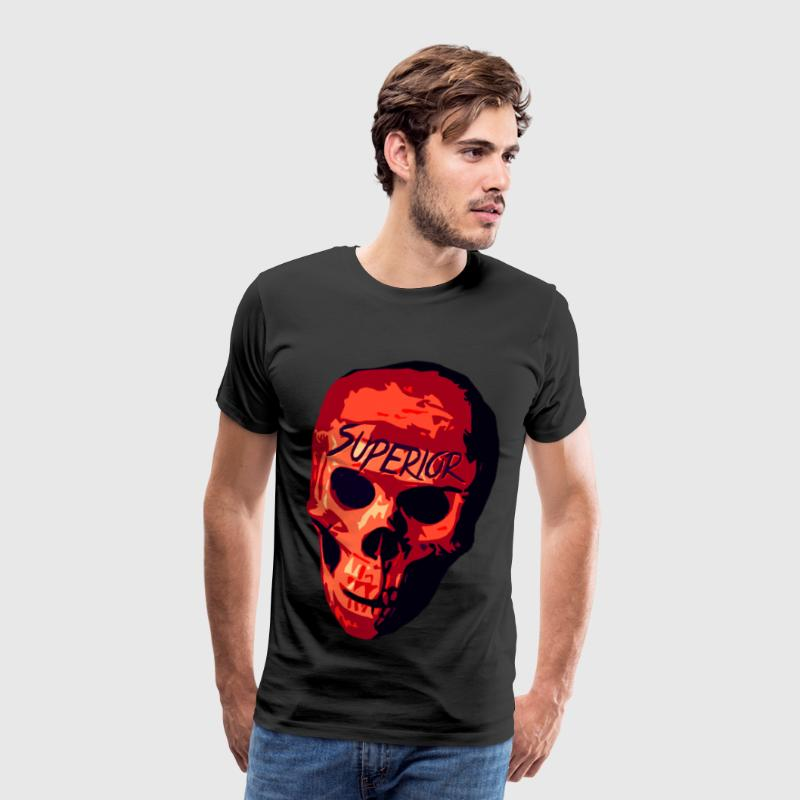 Illustrated Skull T-Shirts - Men's Premium T-Shirt