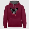 Frenchie Hoodies & Sweatshirts - Contrast Colour Hoodie