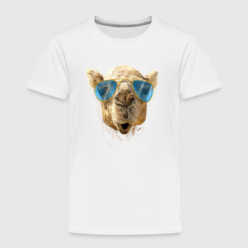 Camel with sunglasses Shirts - Kinderen Premium T-shirt