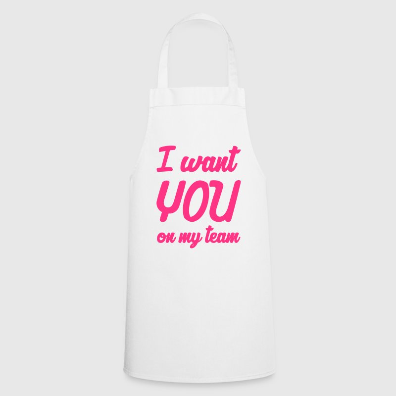 I want you on my team ! Humor Song Music Fun Funny  Aprons - Cooking Apron