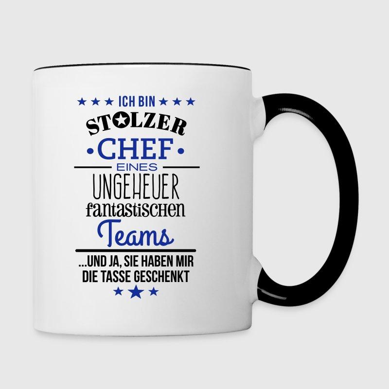 ungeheuer fantastisches team chef edition tasse spreadshirt. Black Bedroom Furniture Sets. Home Design Ideas