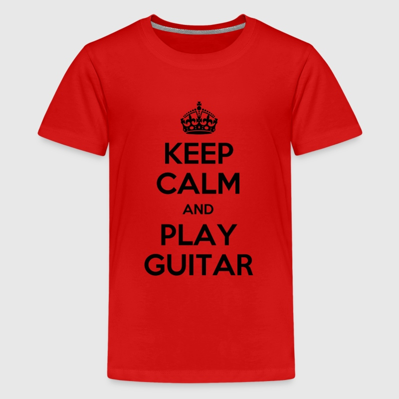keep calm and play guitar T-Shirts - Teenager Premium T-Shirt