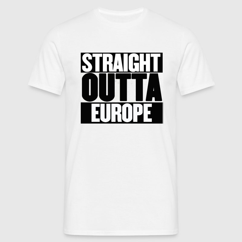 Straight Outta Europe - EU Referendum - Men's T-Shirt