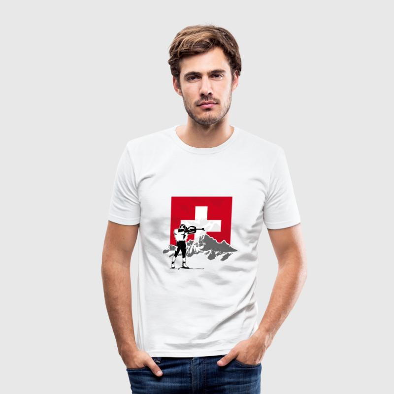 Biathlon - Swiss Flag T-Shirts - Männer Slim Fit T-Shirt