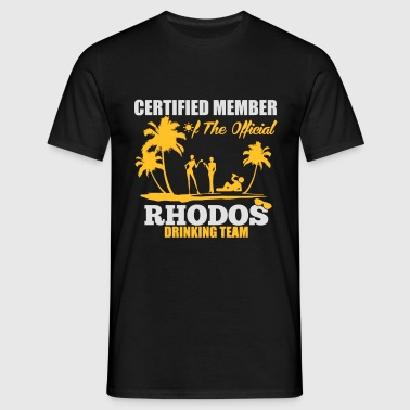 Certified member of the RHODOS drinking team Sports wear - Men's T-Shirt
