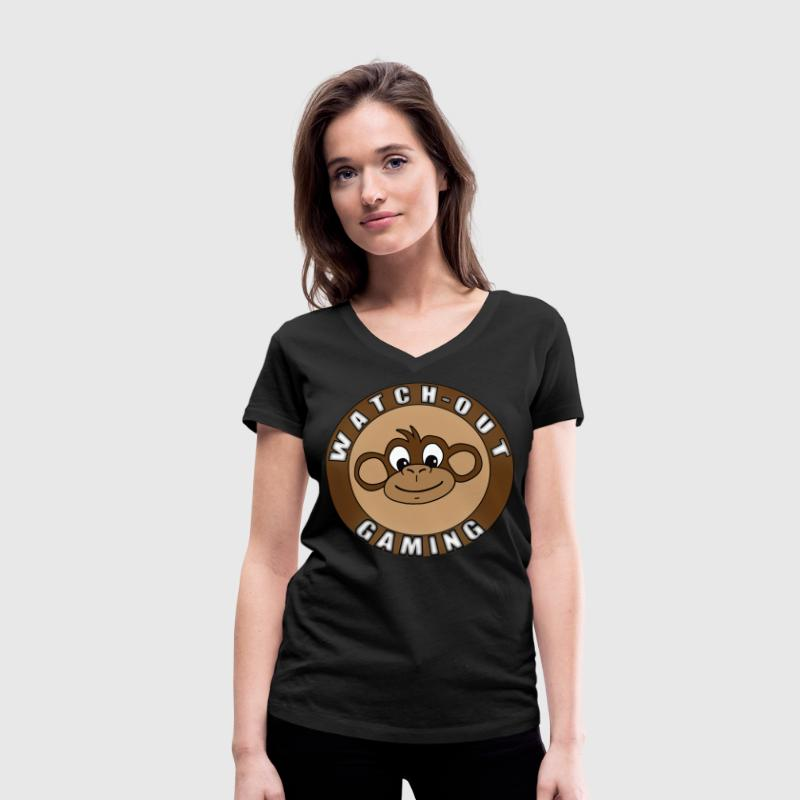 watch-out gaming Tee shirts - T-shirt bio col en V Stanley & Stella Femme
