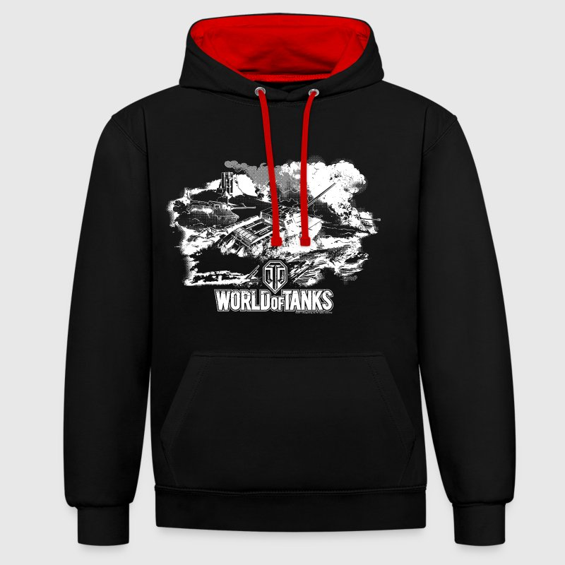 World of Tanks Battlefield Men Hoodie - Bluza z kapturem z kontrastowymi elementami