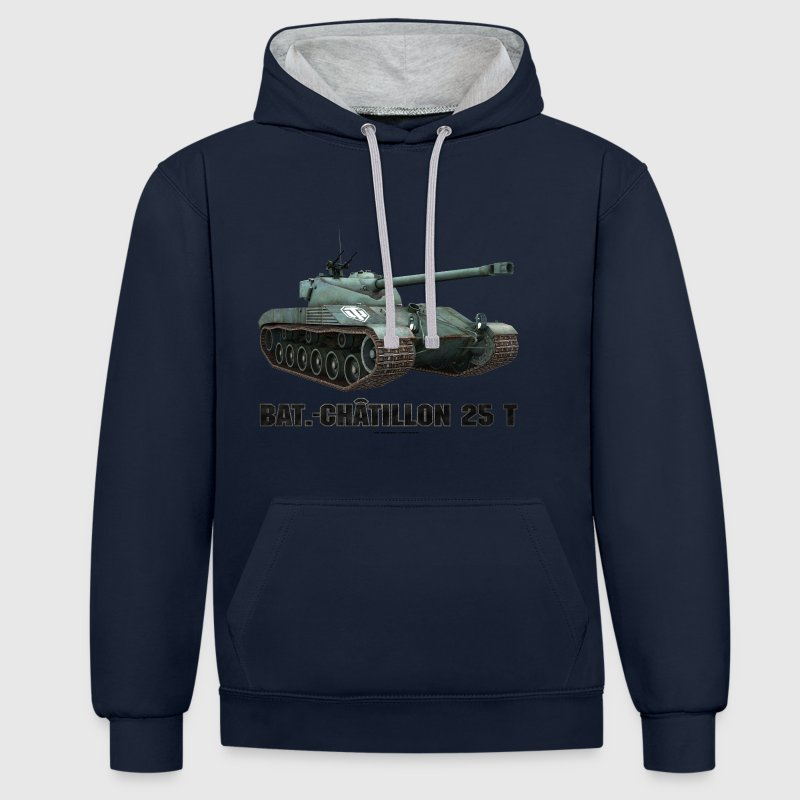 World of Tanks Bat.-Châtillon 25T Men Hoodie - Bluza z kapturem z kontrastowymi elementami