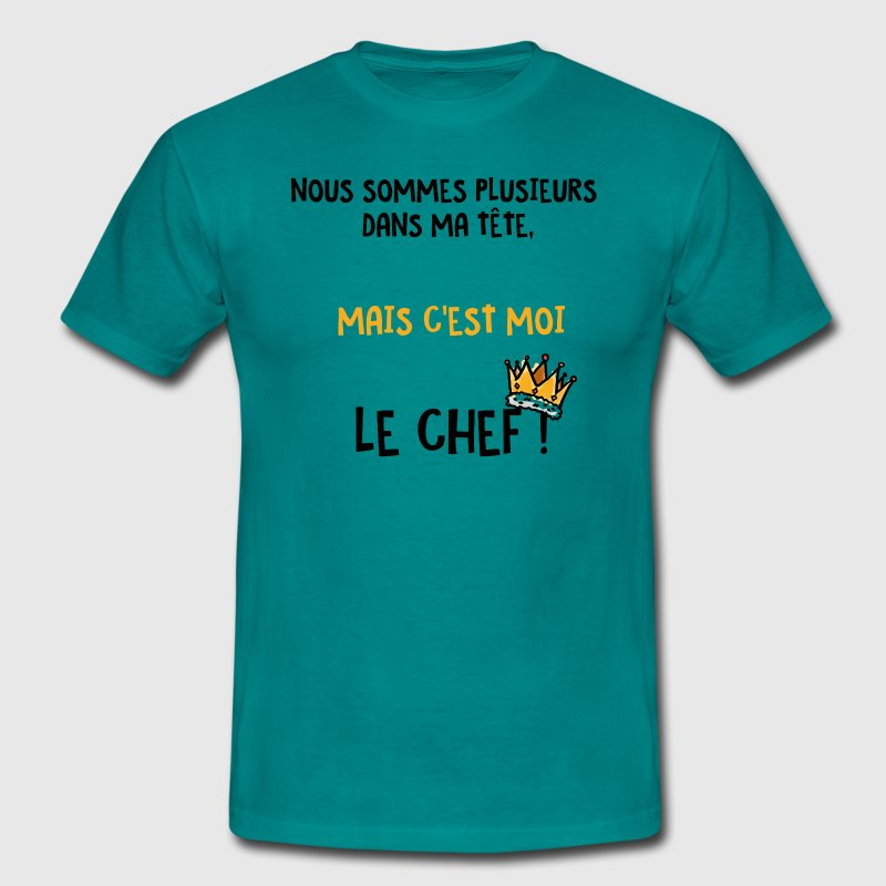plusieurs tete Tee shirts - T-shirt Homme