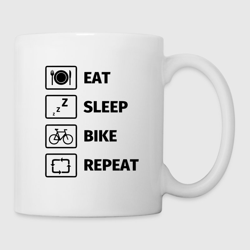Eat Sleep Bike Repeat Mugs & Drinkware - Mug
