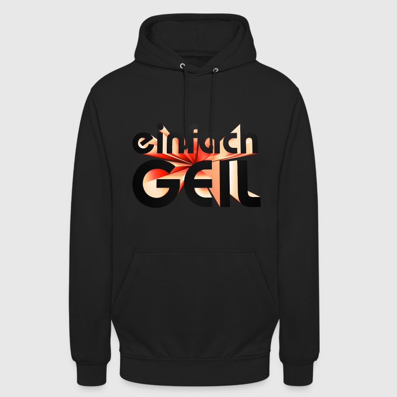 einfach Geil boys black red moderner 3d Text Pullover & Hoodies - Unisex Hoodie