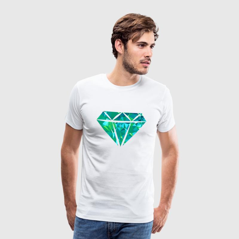 Diamond (Low Poly) T-Shirts - Men's Premium T-Shirt